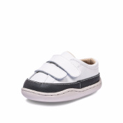 Little Blue Lamb Boys' First Walking Shoes white white black 18-24 Months