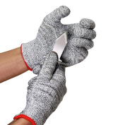 Caloics Oyster Set : Oyster Knives and Cut Resistant Gloves (Size