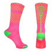 Lacrosse Athletic Half Cushioned Crew Socks | Aloha Hawaii and Tropical Neon Designs