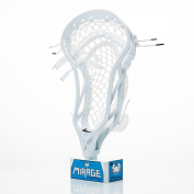 East Coast Dyes Mirage Lacrosse Head White Strung with HeroMesh