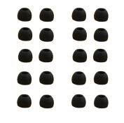 Ularma 10 Pairs Medium Size Black/ White Silicone Replacement Earbuds For Sony Phillips or other mobile phone