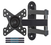 Mounting Dream MD2463-02 TV Monitor Wall Mount Bracket for most 10-26 Inch LED, LCD Flat Screen TV and Monitors, with Full Motion Swivel Articulating Arm, up to VESA 100x100mm and 15 KG