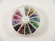 2000 Nail Art Gems Rhinestones For False Nail Scrapbooking Tips 1.5mm by Desire
