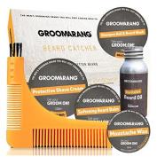 Groomarang Premium Collection Gift Set Beard Oil 30ml Catcher Comb Shave Cream Moustache Wax Beard Balm