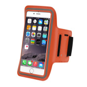 Refoss Water Resistant Sports Armband with Screen Protector for iPhone 6, 6S, 6 Plus(14cm ), Galaxy S6/S5, Note 4 with Key Holder