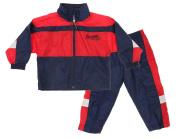 Atlanta Braves MLB Little Boys Toddler Jacket & Pants Wind Suit Set, Navy-Red