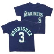 Seattle Mariners Alex Rodriguez #3 MLB Little Boys Toddler Vintage Tee, Navy
