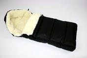 Baby Dreams Winter Footmuff Black Lion to enhance 90 cm for Buggies Lambskin Winter Bag Wool Footmuff