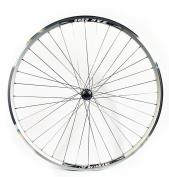 Wilkinson Rear Wheel 36 Hole Hybrid Double Wall Rim, V-Brake, Quick Release Screw On Hub, Silver Spokes, 700C x 135 mm - Silver