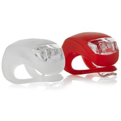 VeloChampion Quick Fix Bike Light Set - Front and Rear Silicone Lights