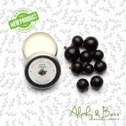 Natural Lip Balm With Coconut oil & Shea Butter - BLACKCURRANT - 15ml by Alphy & Becs