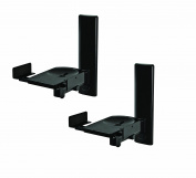 B-Tech BT77/B Black Side-Clamping Wall Mount for Loudspeakers