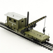 Model Power 98195 US Army Work Caboose with Crane