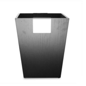 Household trash can square retro trash can materials wood specifications 240 * 180 * 300mm office supplies trash can