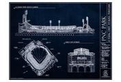 PNC Park Blueprint Style Print