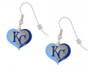 Kansas City Royals Swirl Heart Earrings