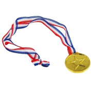 TRIXES 12 Plastic Gold Winners Medals - Sports Day/Awards
