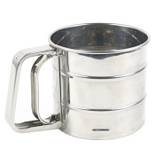TRIXES Stainless Steel Sifter Handheld Trigger Action Flour Sieve