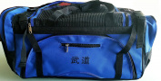 Martial Arts bag with Mesh Top/ Poket, Boxing MMA Deluxe Equipment Bag, Black or Blue 33cm x 70cm x 14""