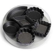 Gobel Bakeware - set 30 non-stick petit fours moulds 6 x 5 styles