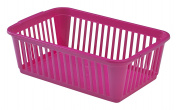 Whitefurze Handy Basket, Plastic, Hot Pink, 25 cm