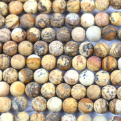 Fashiontrenda Natural Colour Unpolished Round 6mm Picture Jasper Gemstones Loose Beads Findings DIY Jewerlry Making