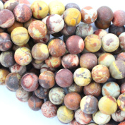 Fashiontrenda Natural Colour Unpolished Round 8mm Birdeye Rhyolite Gemstones Loose Beads Findings DIY Jewerlry Making