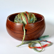 Polystone Deluxe Hand Crafted Yarn Storage Bowl | Crochet & Knitting Accessories | Nagina International (Medium