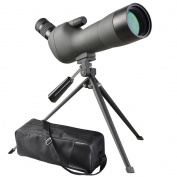 ReaseJoy 20-60X60mm Zoom Angled Spotting Scope Monocular Telescope Angled Eyepiece Waterproof with Tripod and Soft Case