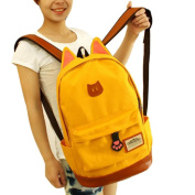 Leoy88 Cute Campus Travel Young Orecchiette Canvas Backpack Bags Sports School Bags