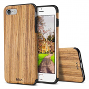 iPhone 7 Case, BELK [Air To Beat] Non Slip Soft Wood Slim Bumper, Scratch Resistant Grip Ultra Light TPU Snap Back Cover with Rubber Corner for Apple iPhone 7 - Teak
