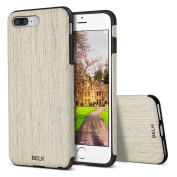 iPhone 7 Plus Case, BELK [Air To Beat] Non Slip Soft Wood Slim Bumper, Scratch Resistant Grip Ultra Light TPU Snap Back Cover with Rubber Corner for Apple iPhone 7 Plus - Birch
