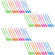 COM-FOUR ® 48x Bar Spoon Made Of Plastic In Assorted Colours (Approx 21 cm long