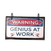 Shabby Chic Metal Signs on a Desk Flip Chart Free Standing Office Fun Humour Gift