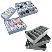 Set of 3 Storage Boxes,Kingko® Collapsible Underwear Bra Lingerie Socks Tie Closet Shoes Drawer Organiser