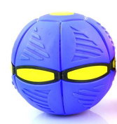 Flat Ball Disc Flying UFO Throw Toy Soft Kids Outdoor - BLUE BALL