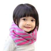 SEADEAR Classic Striped Autumn Winter Infinity Loop Scarf Scarves Neck Warmers Circle Scarf for Kids Baby Girls Boys Toddlers
