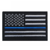 Aiyuda Military Tactical Embroidered US Flag Hook and loop Backed Patch Removable