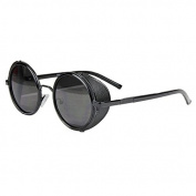 Sunward Vintage Mirror Lens Round Glasses Cyber Goggles Steampunk Sunglasses