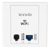 Tenda W6 Wireless N300 PoE Wall Plate Access Point - Up to 300Mbps