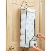 Hanging Toilet Roll Paper Organiser Holder Holds Upto 10 Rolls BNS UK Caddy Dispenser