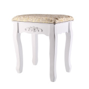 AllRight Dressing Table Stool Baroque Padded Piano Chair Makeup Seat Gold