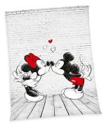 XXL Disney Mickey Mouse Minnie Mouse Fleece Blanket 150 x 200 cm Microfibre Fleece Blanket Throw, New by Herding