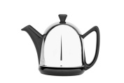 Cosy Manto Teapot Pot Earthenware with Felt-Insulated Stainless Steel Cover High Gloss Black, 0.6 Litres