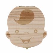 Kingfansion kidsTooth Box organiser baby Milk teeth Save Wood storage box