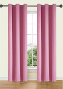 Ifblue Best Room Darkening Thermal Insulated Grommet Window Curtains -Blackout Curtains Drapes for Bedroom, Living Room, Kids Room-2 Panels 110cm X 240cm each, Pink
