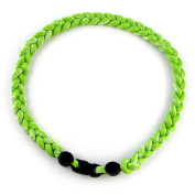 MapofBeauty 46cm Sport Style Single Colour/ Two Colours/ Three Colours Fashion Three Braided Rope Tornado Necklace