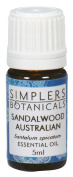 Essential Oil Sandalwood Australian Organic Simplers Botanicals 5 ml Liquid by Simplers Botanicals