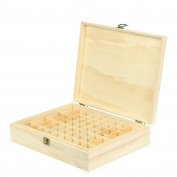 Wooden Essential Oil Box Organiser - Holds 68 Essential Oils - Great For Storing 10ml Roller Bottles & 15ml Bottles - Perfect Essential Oils Case for Home, Travel, and Presentations