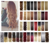 3/4 Full Head 3-5 Days Delivery 60cm /70cm Straight Curly Wavy 1 Piece 5 clips Clip in/on Synthetic Hair Extensions Hairpiece for Women 41 colour for beauty